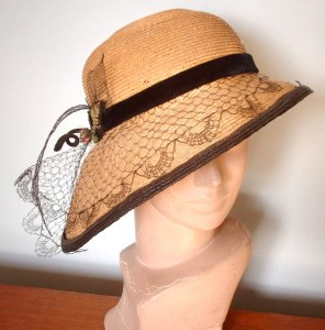 STYLISH STRAW HAT from about 1910????????????????????????????