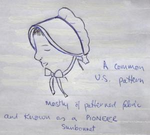 What is known as a sunbonnet in the USA