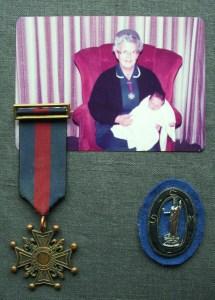 JUDY PEMBERTON.  1934 - 2012      S.R.N. MEDAL & S.C.M. HAT BADGES
